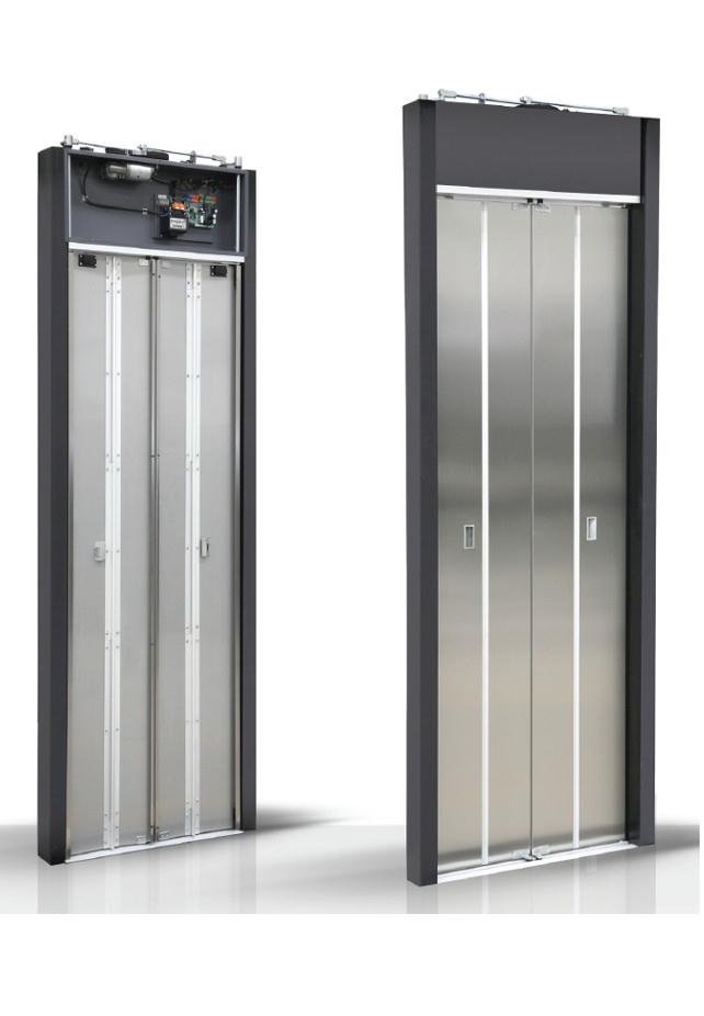 D type automatic folding door
